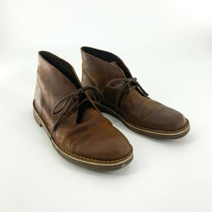 Clarks Size 11 Brown Leather Chukka Boots Men's